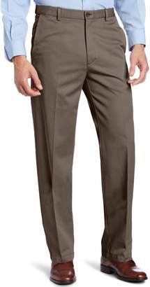Haggar Men's Work to Weekend Hidden Expandable Waist Straight Fit Pant