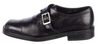 Salvatore Ferragamo Leather Buckle Loafers