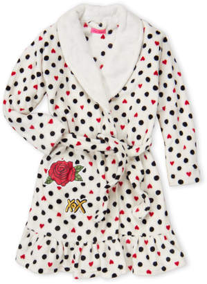 Betsey Johnson Girls 7-16) Polka Dot Belted Robe