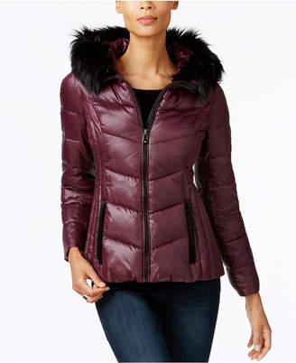 INC International Concepts I.N.C. Faux-Fur-Trim Puffer Coat, Created for Macy's