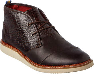 Toms Men's Mateo Croc-Embossed Leather Chukka Boot