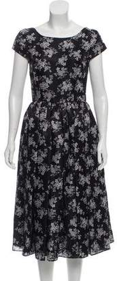 Dolce & Gabbana Silk Midi Dress w/ Tags
