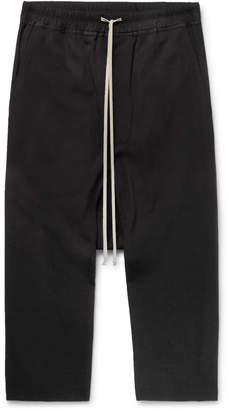 Rick Owens Wool-Crepe Drawstring Trousers