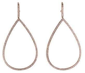 18K Diamond Large Teardrop Earrings rose 18K Diamond Large Teardrop Earrings