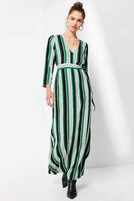 Urban Outfitters V-Neck Long Sleeve Maxi Dress