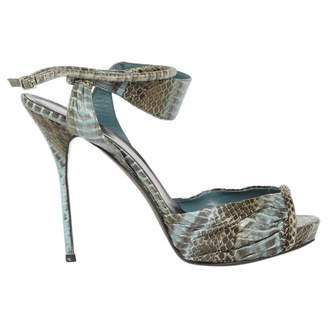 Pierre Hardy Exotic Leathers Sandals