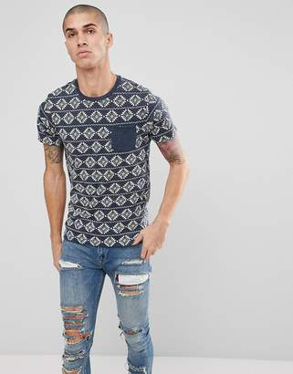 Brave Soul All Over Geo-Tribal Print T-Shirt