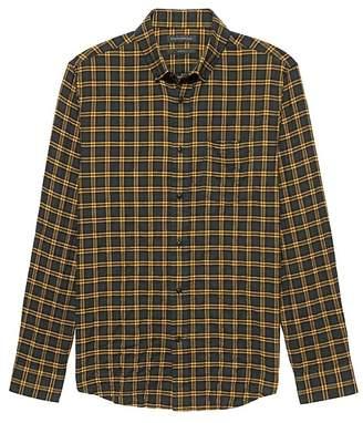 Banana Republic NEW Slim-Fit Crinkle Cotton Flannel Shirt