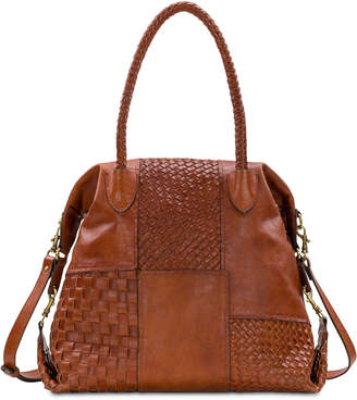 Patricia Nash Paloma Slouchy Woven Leather Satchel
