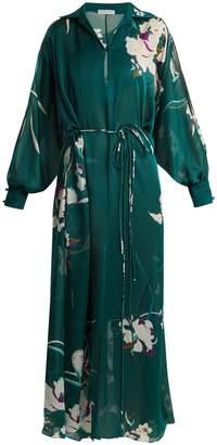 Carine Gilson Floral-print silk-satin kaftan