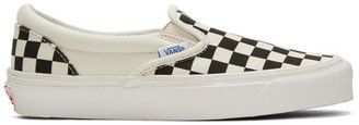 Vans Off-White & Black Checkerboard OG Classic Slip-On Sneakers $60 thestylecure.com