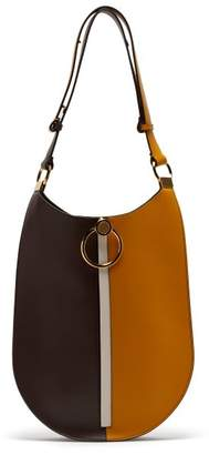 Marni Earring Leather Bag - Womens - Khaki Multi