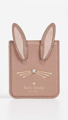 Kate Spade Rabbit Sticker Pocket iPhone X Case