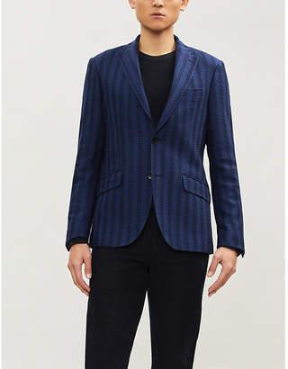 Etro Striped cotton and silk-lined jacquard blazer