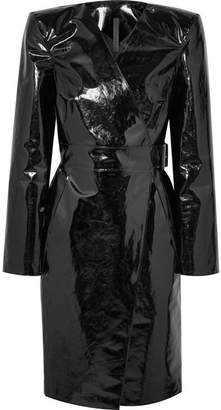 Gareth Pugh Belted Pvc Wrap Dress - Black