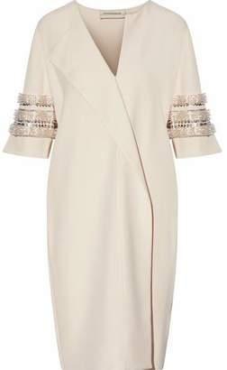 By Malene Birger Hobbisan Wrap-Effect Embellished Cady Dress