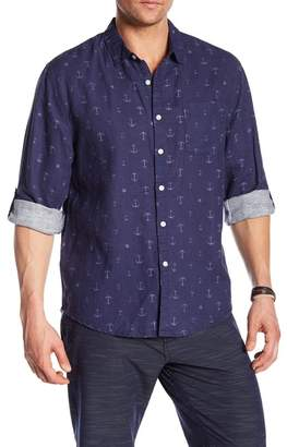 Trunks Surf and Swim CO. Maui Linen Blend Regular Fit Shirt