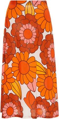 Dodo Bar Or Odetta Floral-Print Midi Skirt