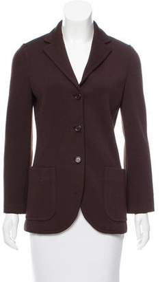 Prada Wool Notch-Lapel Blazer