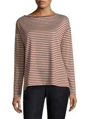 Lafayette 148 New York Audrey Striped Linen Top