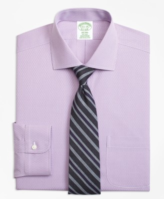 Brooks Brothers Milano Slim-Fit Dress Shirt, Non-Iron Dobby Diamond