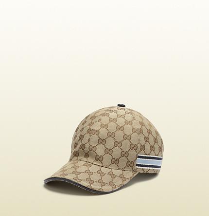 Gucci GG pattern baseball hat with web detail