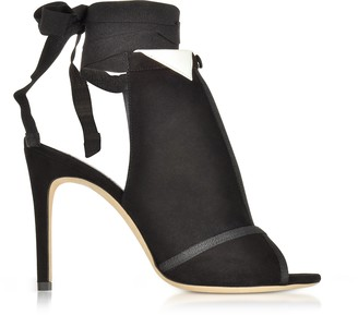 Olgana Paris La Jolie Black Suede High Heel Pump