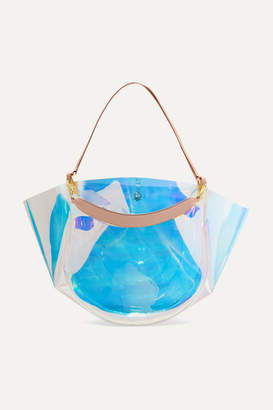 clear Wandler - Mia Pvc And Leather Tote - Metallic