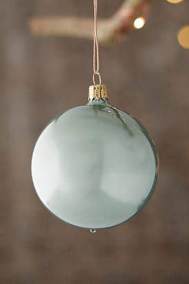 Anthropologie Pearly Glass Globe Ornament