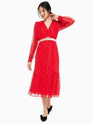 Kate Spade Heartbeat silk midi dress