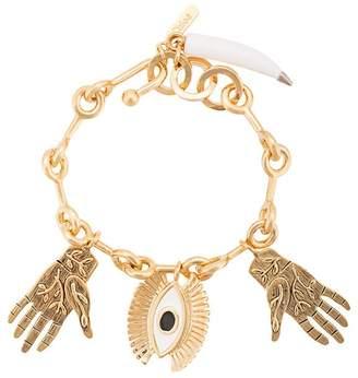 Chloé eye and hands charm bracelet