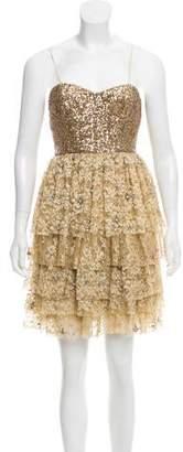 Alice + Olivia Strapless Cocktail Dress