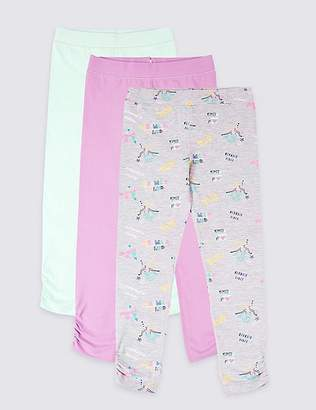 Marks and Spencer Easy Dressing 3 Pack Leggings (3-16 Years)