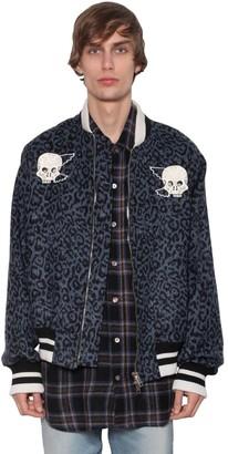 Lost Daze Ca Embroidered Wool Blend Bomber Jacket