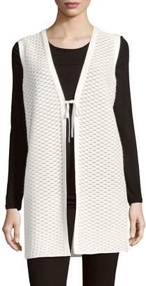 Lafayette 148 New York Women's Tie-Front Long Vest