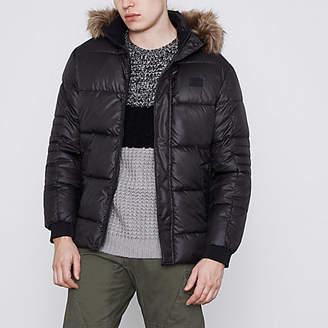 River Island Jack and Jones Core black puffer jacket