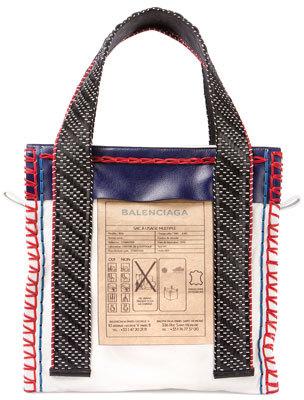 Balenciaga Scaffold Leather Tote Bag, Multi $1,955 thestylecure.com