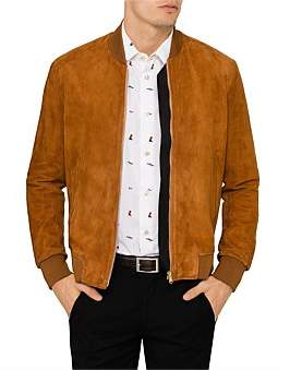 Paul Smith Suede Leather Zip Bomber Jacket