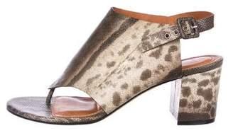 Givenchy Karung Slingback Sandals