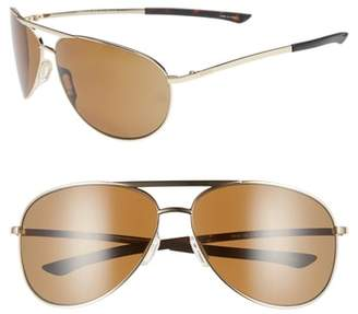 Smith Serpico 2 65mm Mirrored ChromaPop(TM) Polarized Aviator Sunglasses