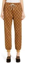 Gucci GG Print Technical Jersey Jogger Pants