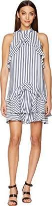Nicole Miller Women's Sailor Stripe Ruffle Dress