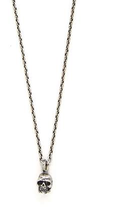 Emanuele Bicocchi Skull Sterling Silver Chain Necklace - Mens - Silver