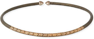 Etho Maria 18k White Gold, Titanium & Brown Diamond Choker
