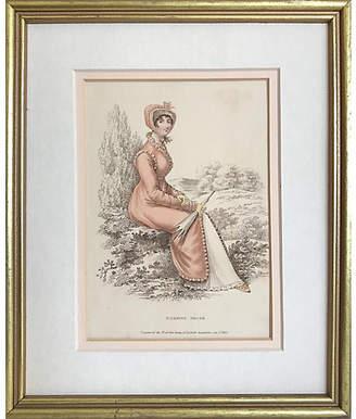 One Kings Lane Vintage 19th-C. Morning Dress Fashion Print - Antiquarian Art Company