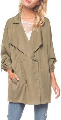 Dex Roll-Tab Double-Breasted Jacket