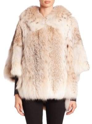 The Fur Salon Batwing-Sleeve Fur Jacket