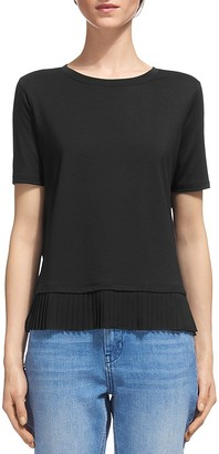 Whistles Pleated Hem Tee $120 thestylecure.com