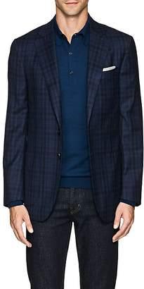 Isaia Men's Sanita Plaid Wool Two-Button Sportcoat