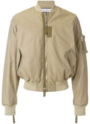 J.W.Anderson baseball card patch bomber jacket